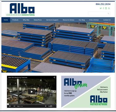 Alba Manufacturing Newsletter - Alba Website