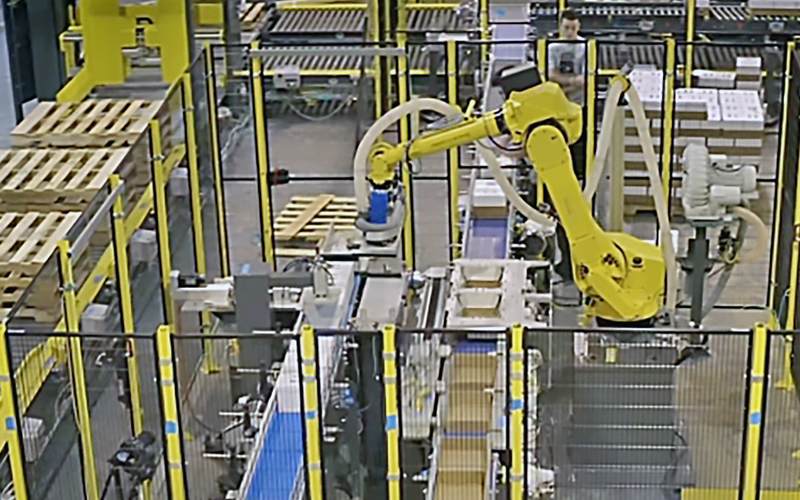 Alba Manufacturing - Increased Demand for Fizz Leads to a New Robotic Pallet Conveyance Solution