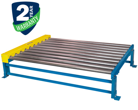 """Alba Manufacturing - Chain Driven Live Roller Conveyor - 1.9"""" Diameter Rollers"""
