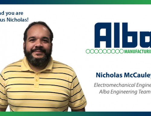 Welcome Nicholas McCauley to Alba!